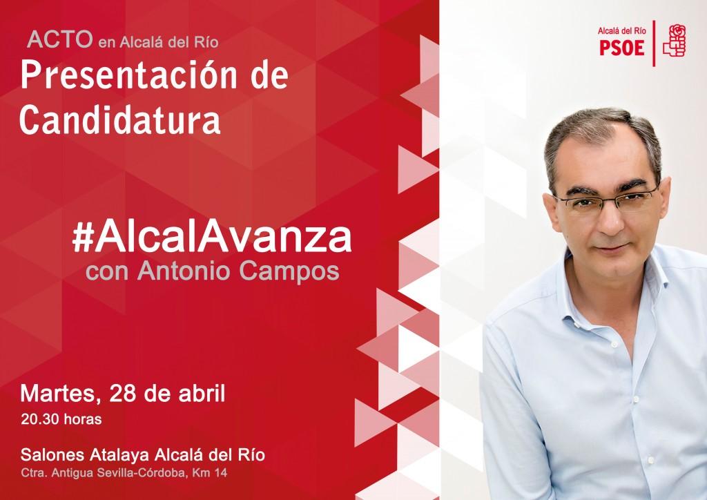 Cartel Acto Presentación Candidatura Alcalá del Río